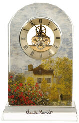 "Table Clock ""The Artist House"" with Gold Décor"