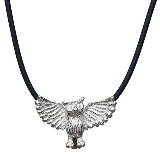 "Kerstin Stark: Necklace ""Owl"", sterling silver"