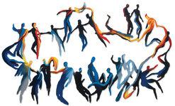 """Wall sculpture """"Star Dance"""" (2013)"""