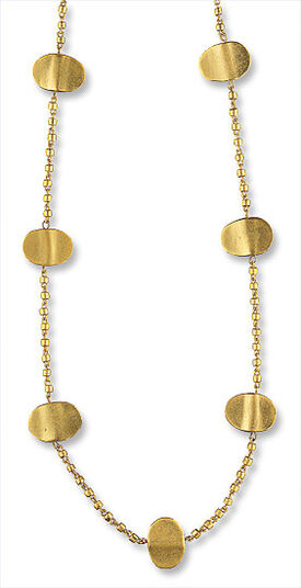 "Necklace ""Gold nuggets"""