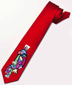 "Silk tie ""Conference of the Wise"", red version"