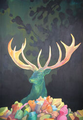"Painting ""Mysterious Deer"" (2013)"