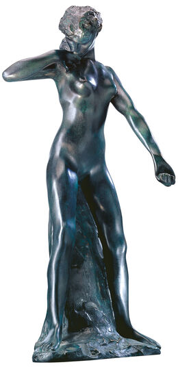 "Auguste Rodin: Sculpture ""Standing Faunin"" (1884), bronze artedition"