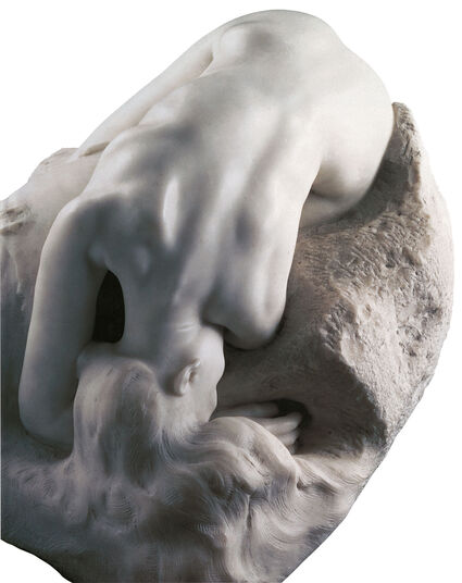 "Auguste Rodin: Sculpture ""La Danaide"" (1889/90), version in artificial marble"
