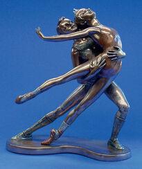 """Skulptur """"Ballett - Pas de deux"""", Kunstbronze"""