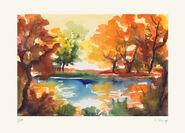 """Bild """"Herbstsonne"""", ungerahmt"""