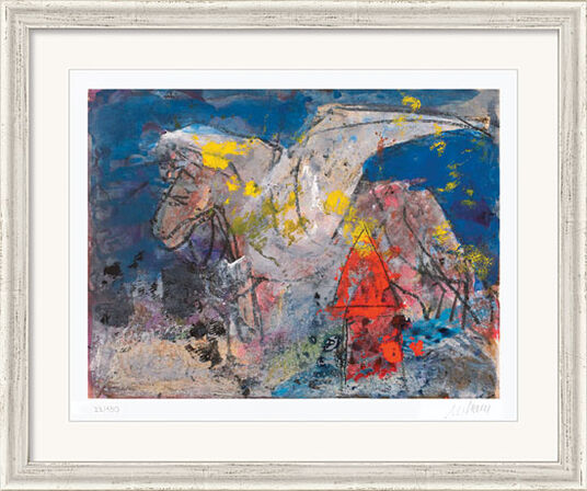 "Armin Mueller-Stahl: Bild ""Pegasus"" (2012), gerahmt"