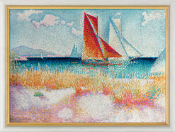 "Picture ""Regatta"" (1895) in museum frame"