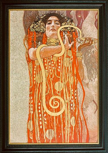 "Gustav Klimt: Bild ""Hygieia"" (1845), gerahmt"