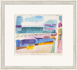 "Painting ""Beach at St. Germain near Tunis"" (1914), Framed"