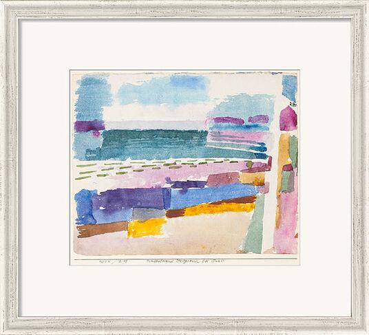 """Paul Klee: Bild """"Badestrand St. Germain bei Tunis"""" (1914), gerahmt"""