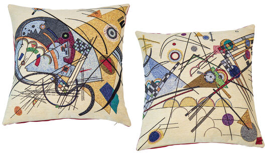 Wassily Kandinsky: 2 Kissenhüllen mit Künstlermotiven im Set