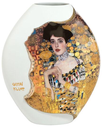 """Gustav Klimt: Porzellanvase """"Adele Bloch-Bauer"""" mit Golddekor"""