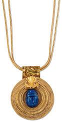 """Sun Wheel"" - necklace with lapis lazuli-scarab"