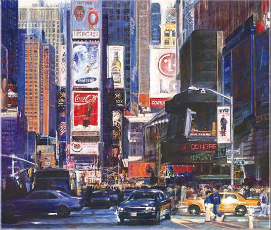 """Namazbek Chekirov: Picture  """"Times Square"""""""
