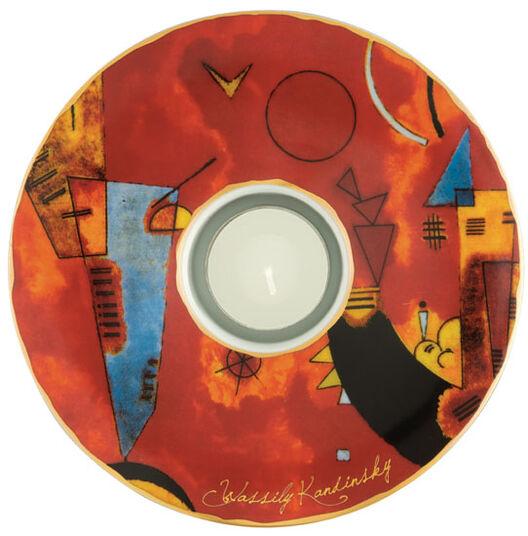 """Wassily Kandinsky: Teelicht """"Mit und Gegen"""" (1929), Porzellan"""