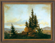 "Picture ""view of the Elbe Valley"" (1807)"