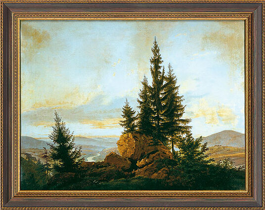 "Caspar David Friedrich: Picture ""view of the Elbe Valley"" (1807)"