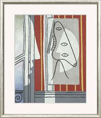"""Bild """"Figur und Profil"""" (1928), gerahmt"""
