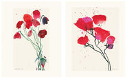 """2 Bilder """"Junge Mohnblüten"""" und """"Roter Mohn II"""" im Set"""