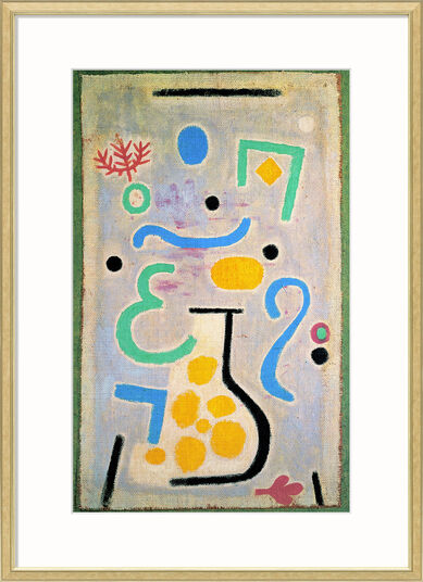 """Paul Klee: Bild """"Die Vase"""" (1938), gerahmt"""