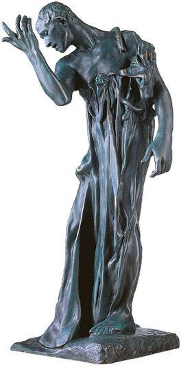 """Auguste Rodin: Skulptur """"Pierre de Wissant"""", Version in Kunstguss"""