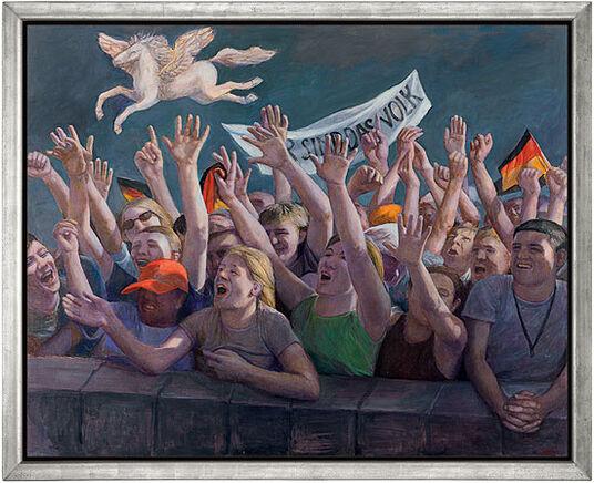 """Gudrun Brüne: Bild """"Wir sind das Volk"""" (2010) (Original / Unikat), gerahmt"""