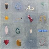 """Bild """"16 Elemente"""" (1998) (Unikat)"""