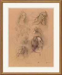 """Bild """"Le Donne di Botticelli"""", ungerahmt"""