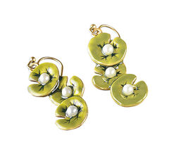 "Earrings ""Water Lilies"""