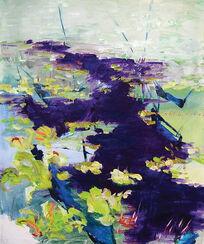 """Bild """"Purple Water Flow"""" (2015) (Unikat)"""