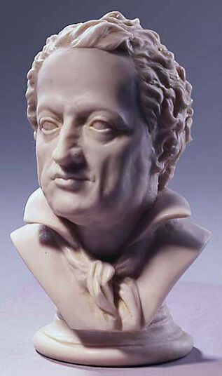 Goethe-bust, artificial marble edition