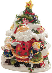 Ceramic jar 'Santa Claus', hand-painted