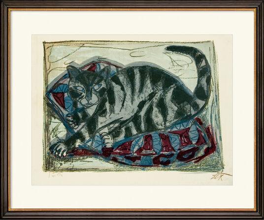 """Otto Dix: Bild """"Katze"""" (1959)"""