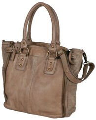 "Leather Shopper ""Sand"""