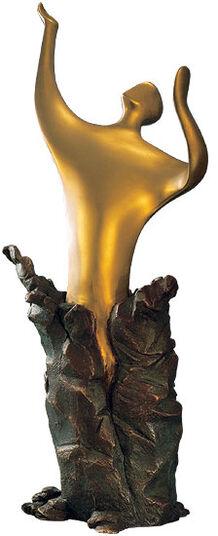 Thomas Schöne: Sculpture 'Transformation', version in cold cast bronze
