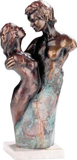 """Lluis Jorda: Skulptur """"Innig vertraut"""", Kunstbronze"""