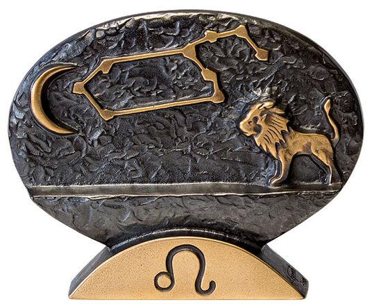 """Bernardo Esposto: Sternzeichen-Skulptur """"Löwe"""" (23.7.-23.8.), Bronze"""