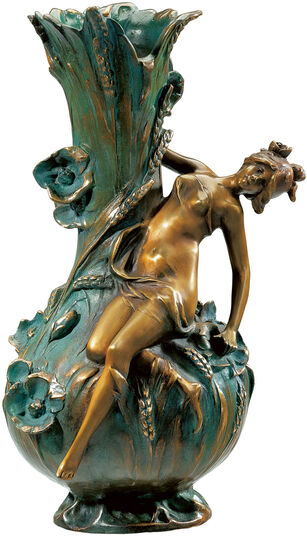 "Louis Auguste Moreau: Vase ""Coquelicot"""