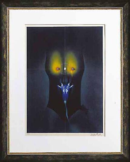 """Paul Wunderlich: Picture  """"Fleur de nuit"""" (1995)"""