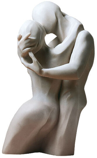 "Bernard Kapfer: Sculpture ""The Kiss"", version in artificial marble"