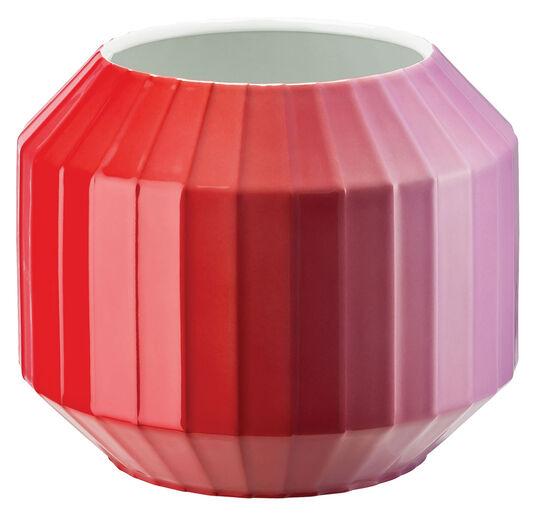 """Christine Rathmann: Porzellanvase """"Hot-Spots - Flashy Red"""" (klein, Höhe 16 cm)"""