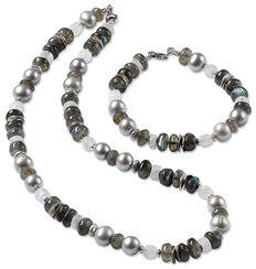 "Jewelry set ""Gray"""
