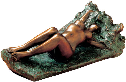 """Peter Hohberger: Skulptur """"Woge"""", Bronze"""