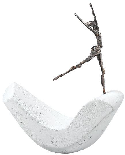 "Luise Kött-Gärtner: Sculpture ""Freedom"", bronze on cast stone"