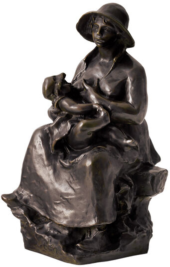 "Auguste Renoir: Skulptur ""Mutter und Kind"" (1916), Reduktion in Bronze"