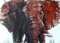 "Bild ""Elefant 79"" (2017) (Unikat)"