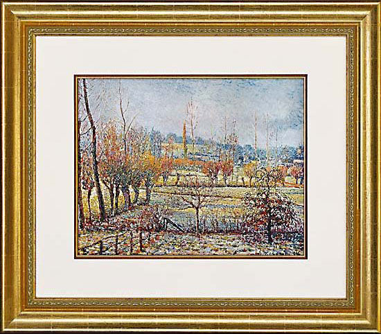 "Picture ""Rime at Eragny"" in frame"