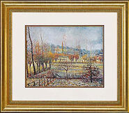 "Picture ""Rime at Eragny"" in frame"