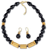 "Jewelry set ""Onyx Judith"""